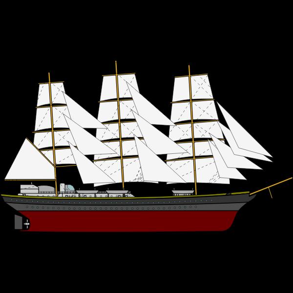 Three Sail Ship