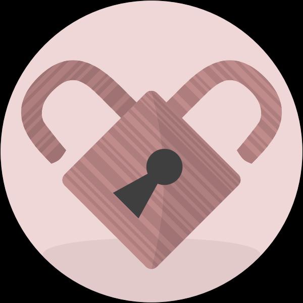 Pink lock heart