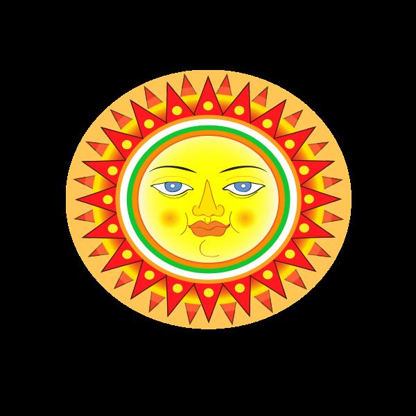 The Sun with face