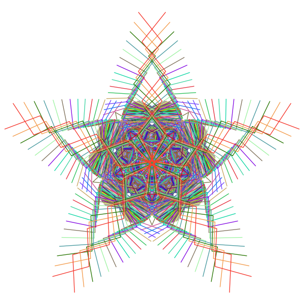 Prismatic Star Line Art
