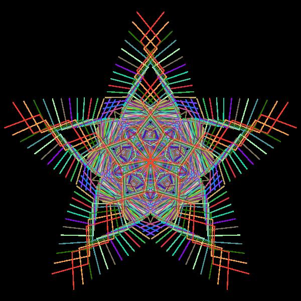 Prismatic Star Line Art