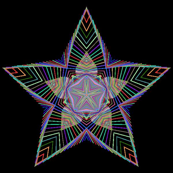 Prismatic Star Line Art 2