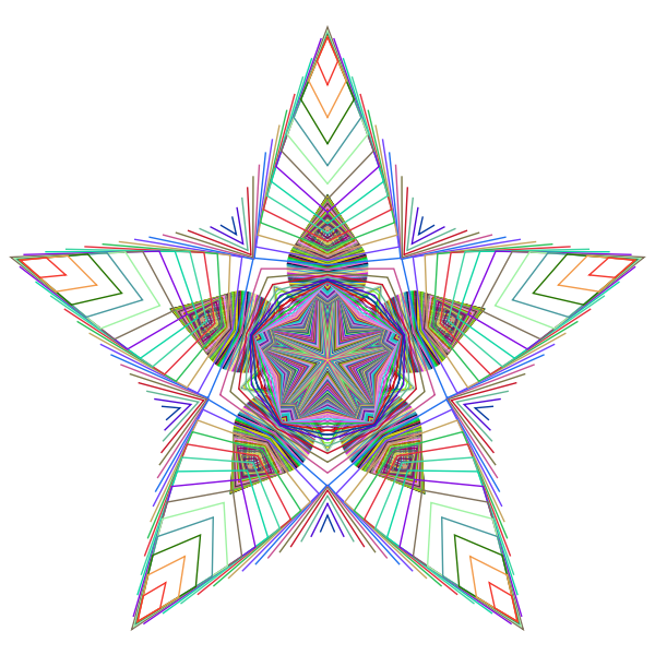 Prismatic Star Line Art 2