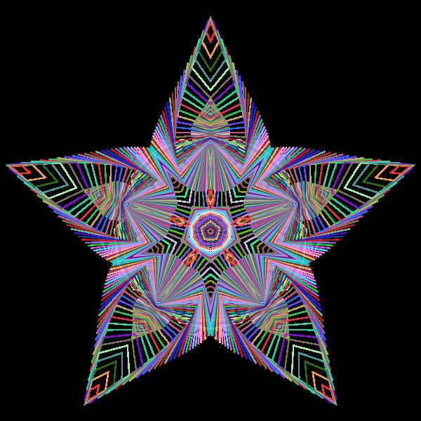 Prismatic Star Line Art 3