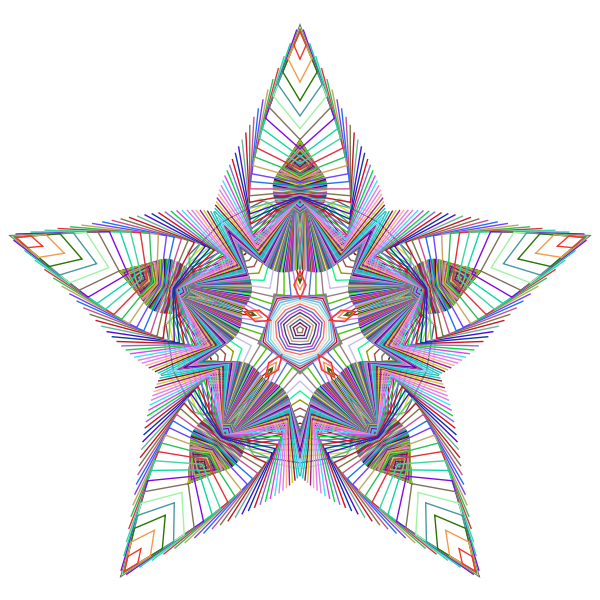 Prismatic Star Line Art 3