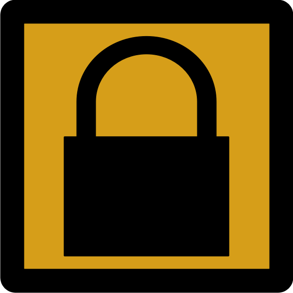 Padlock pictogram
