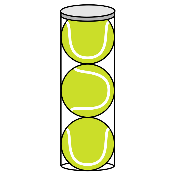 Tennis balls in a cylinder