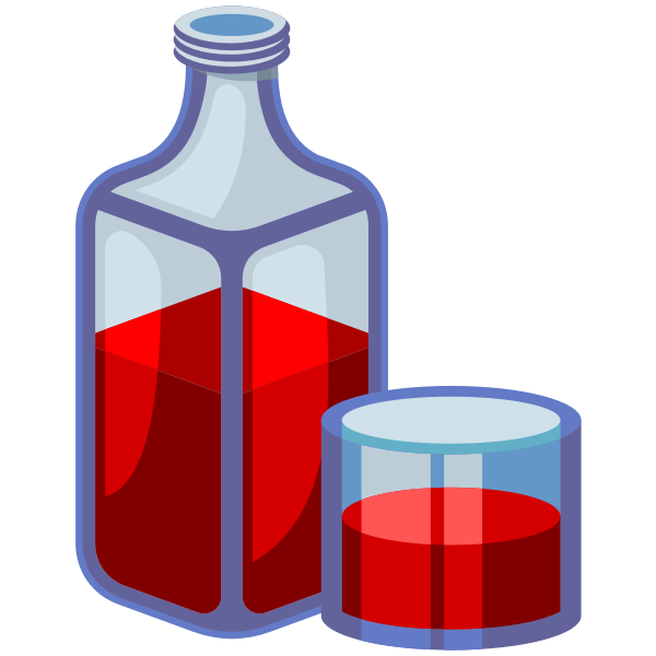 Bottle and glass icons