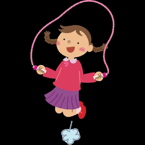 Girl Skipping Rope