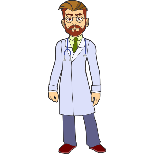 cartoon drawing man with beard