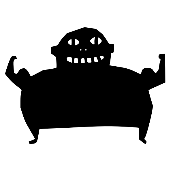 Muscleman silhouette