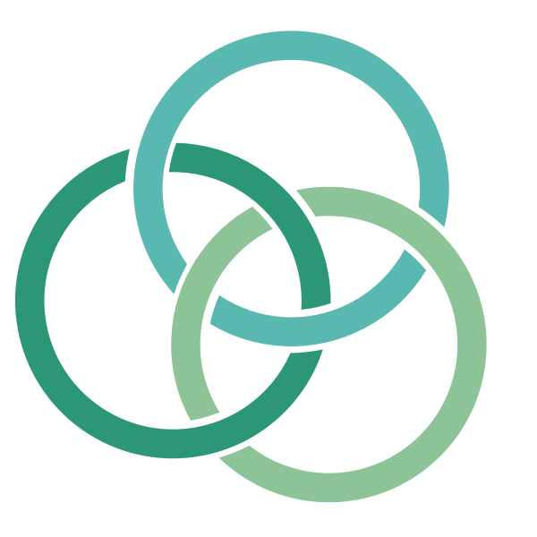 Overlapping circle outlines