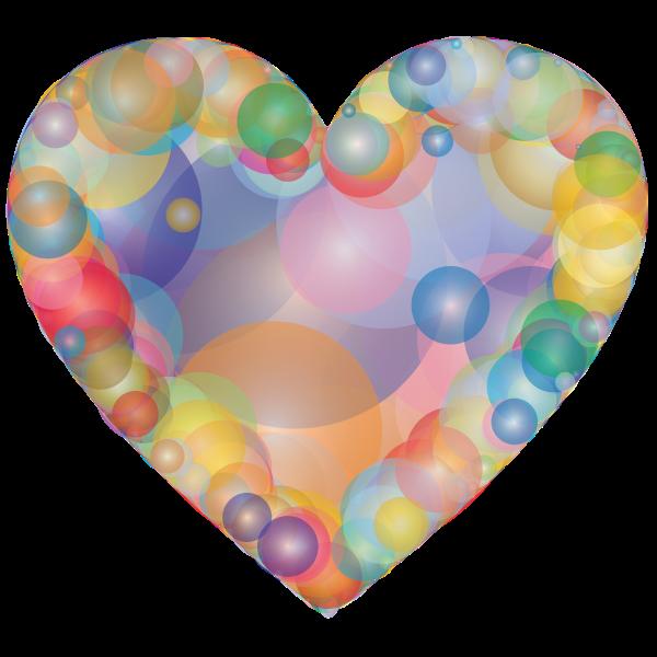 bubble heart rainbow