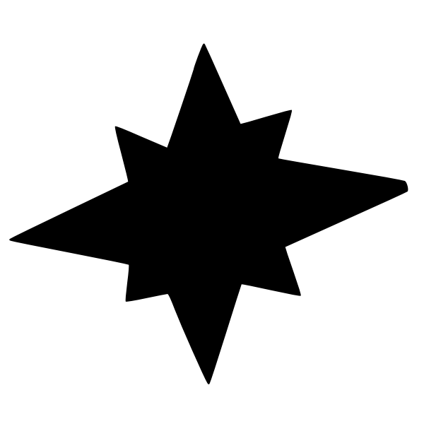 star silhouette octagonal