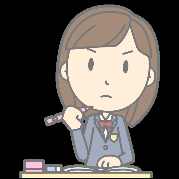 Grumpy student vector image