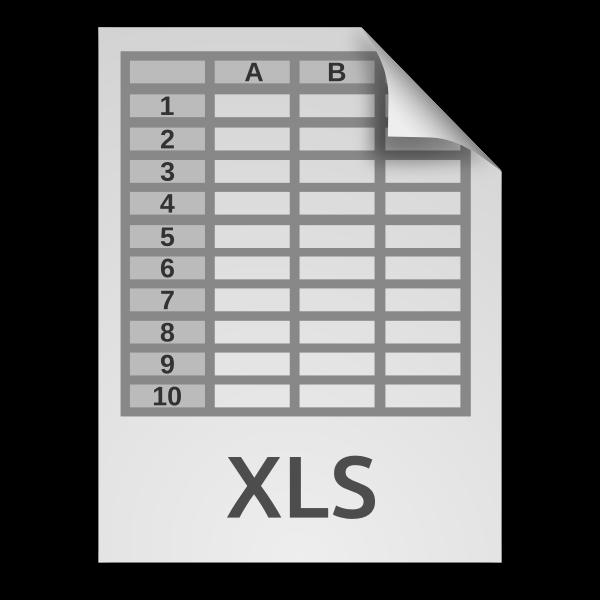 Spreadsheet document XLS icon
