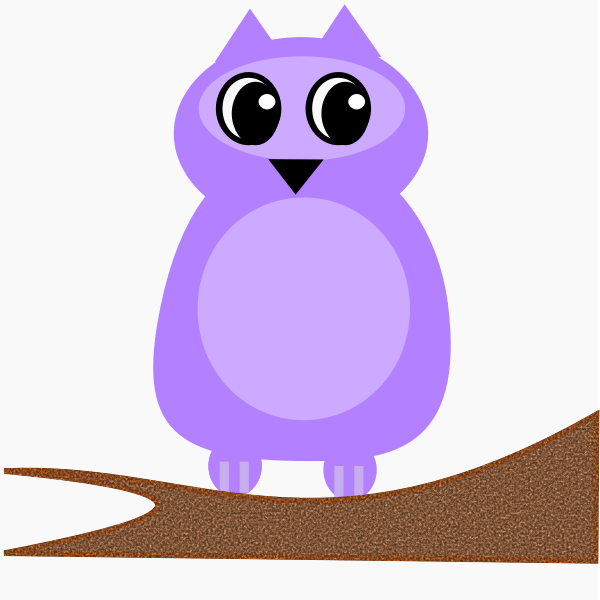 Violet owl vector image