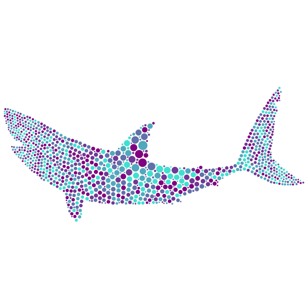 Shark with colorful dots