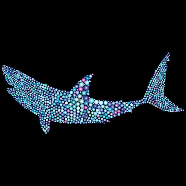Shark in bubbles