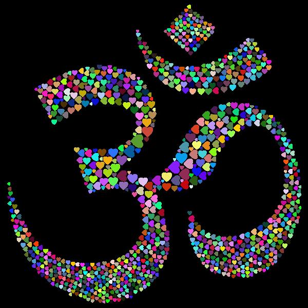 Om Symbol Hearts