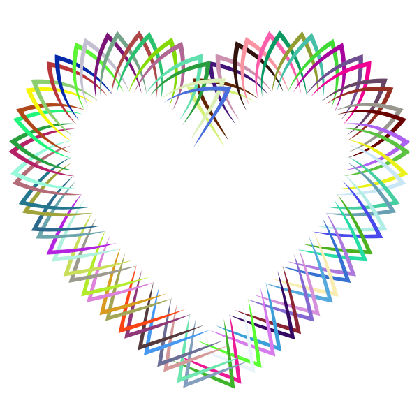 Abstract Geometric Frame I Heart Prismatic