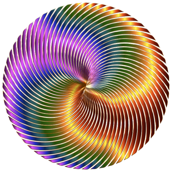 Chromatic swirls in a circle