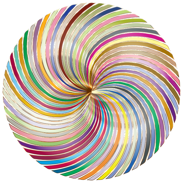 Colorful lines in a circle