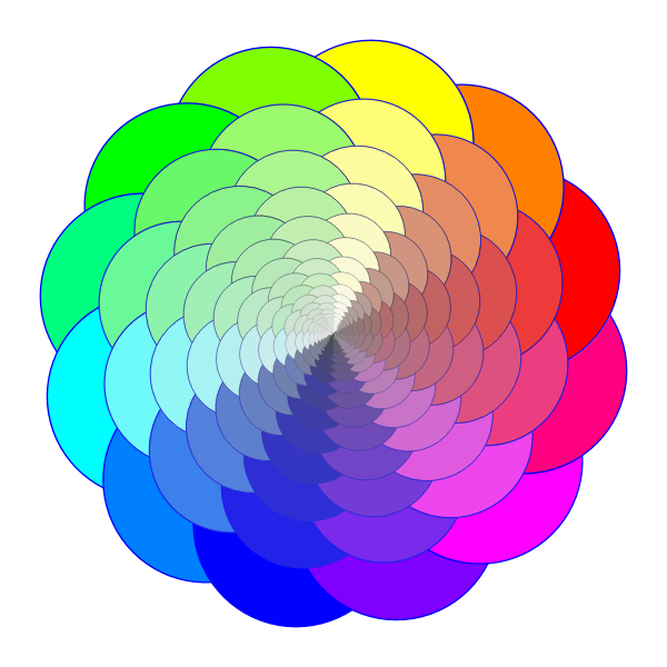 Colorful Shape geometric progression