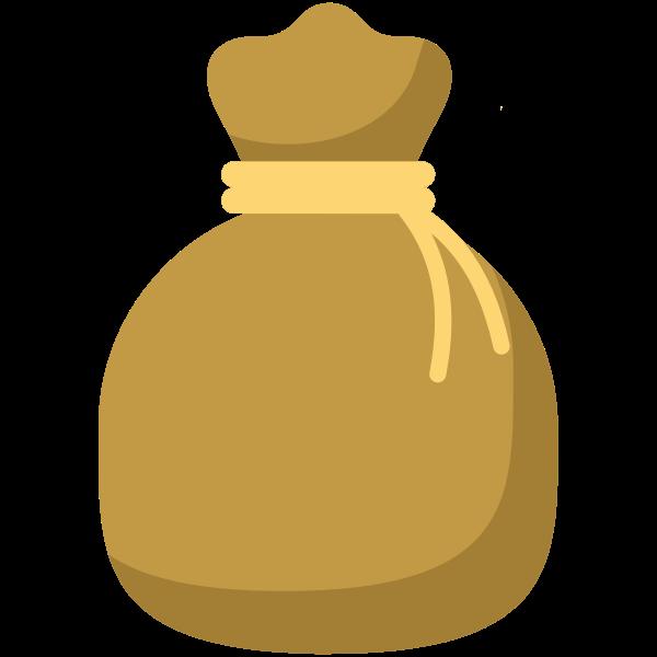 Brown money bag