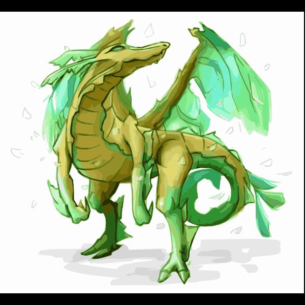 Yellow Green Leafy Sea Dragon