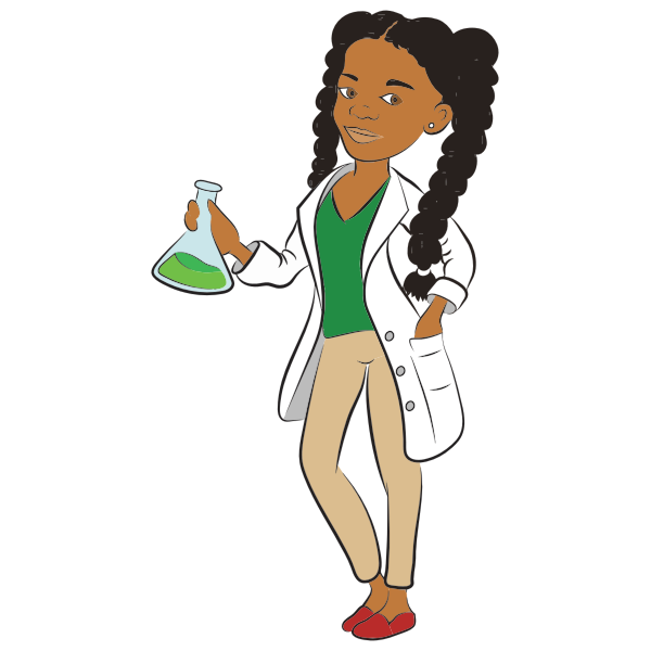 Young female scientist