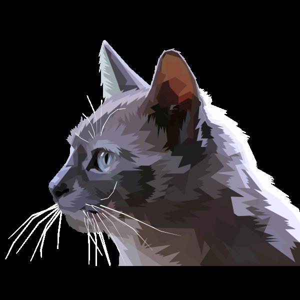 Geometric Cat Profile