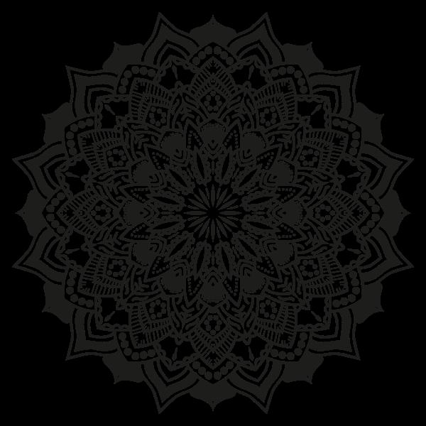Floral Mandala Monochrome