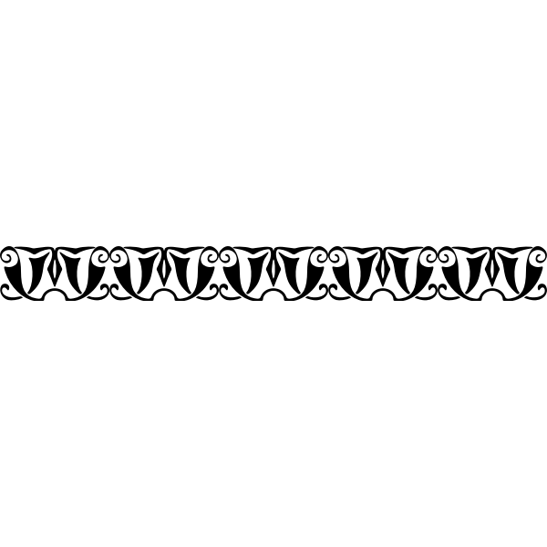 Horizontal ornamental divider