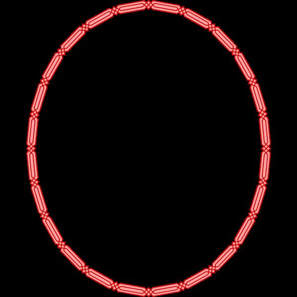 Oval Egyptian frame