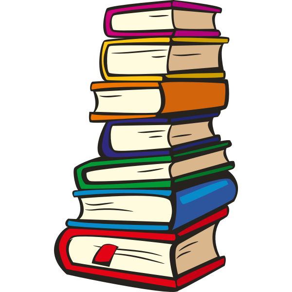 Stack of books vector illustration | Free SVG