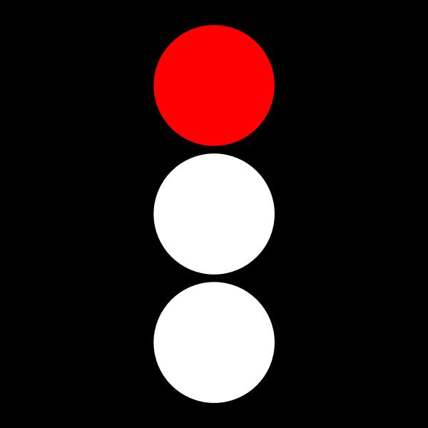 Red traffic light indicator