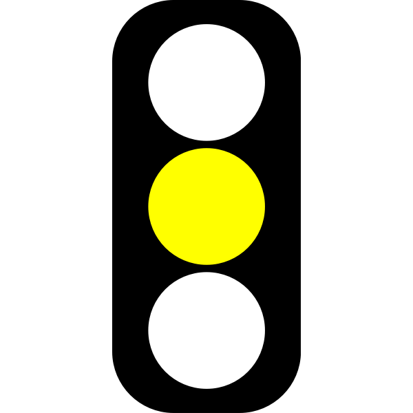Yellow traffic light indicator