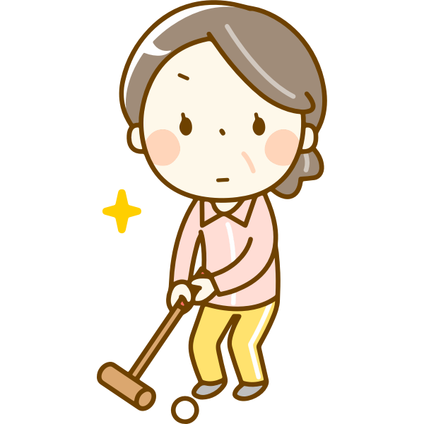 Female Croquet Player
