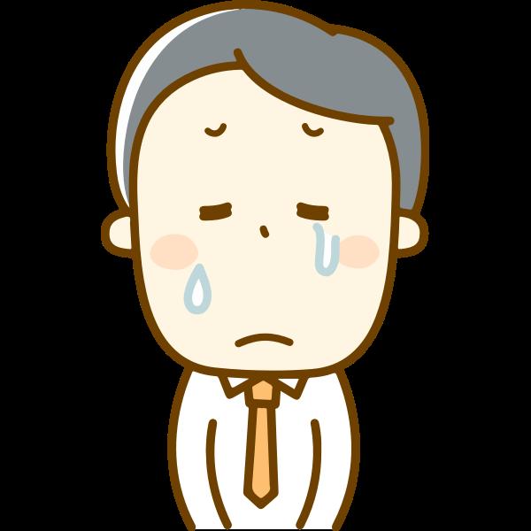 Man in tears