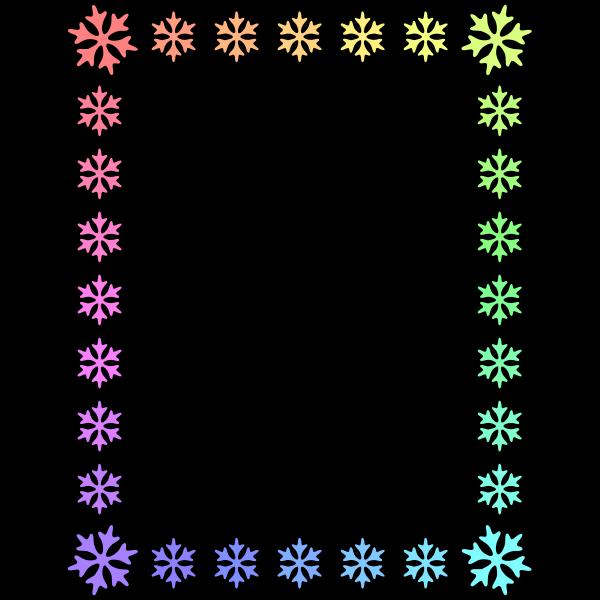 Snowflake frame (rainbow)