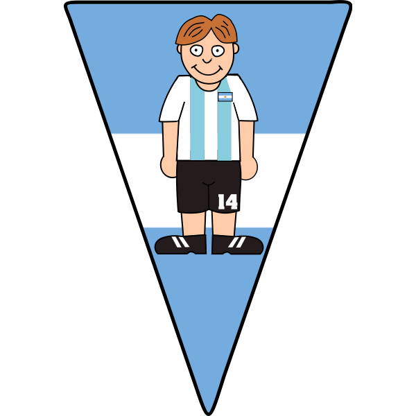 Soccer player on a pennant