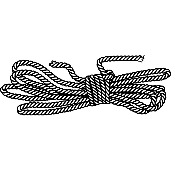 Rope in a butterfly coil