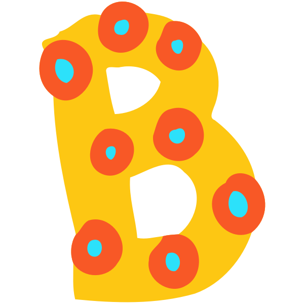 Decorated letter B