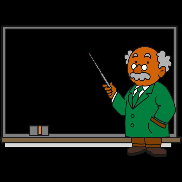 Professor in green suit