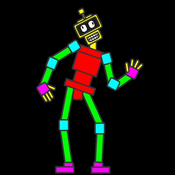 Animated Rectangle Robot