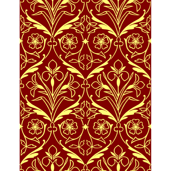 Floral pattern with yellow leaves