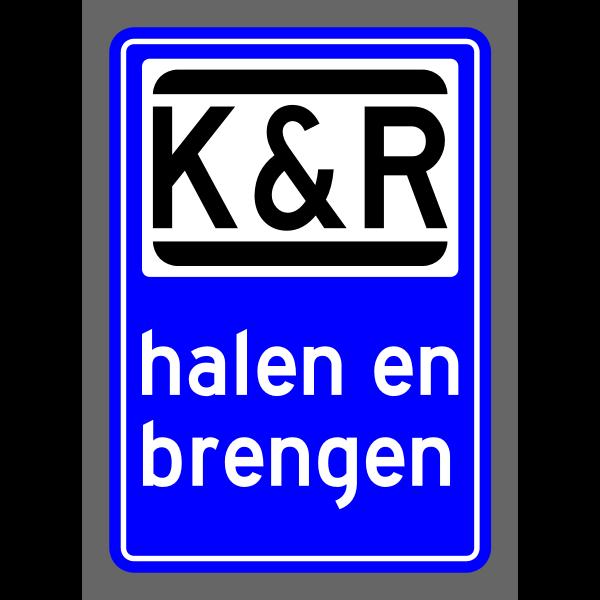 Kiss and ride symbol