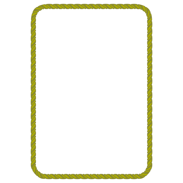 Rope Border 4 (A4 size)