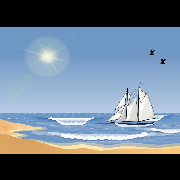 Sailboat at a Beach